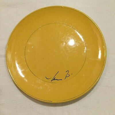 """Cameo Collection by Mamma Ro Dinner Plate 11"""" Marigold Yellow"""