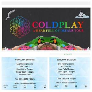 Coldplay Tickets x 2 North Lakes Pine Rivers Area Preview
