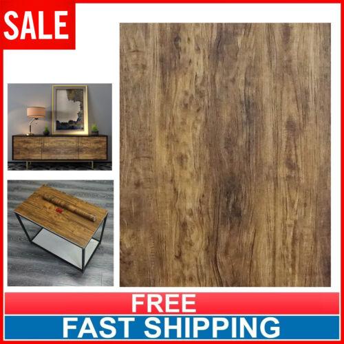 Brown Wood Grain Contact Paper Self Adhesive Wallpaper Shelf Liner Vinyl Film US
