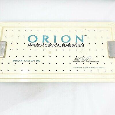 Sofamor Danek Orion Anterior Cervical Plate System Implant Case 871-698 30 Items