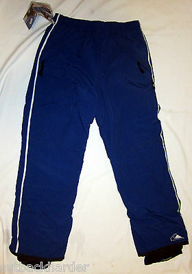 QUIKSILVER Boys Dark Blue Ski Snowboard Pants NEW LARGE Insulated Waterproof