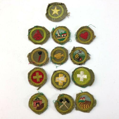13 Vintage Boy Scout Merit Badges