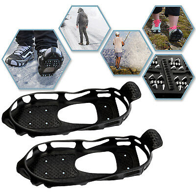 Ice Snow Cleats Traction Grippers Shoes and Boots Rubber Spikes 24 Steel Studs