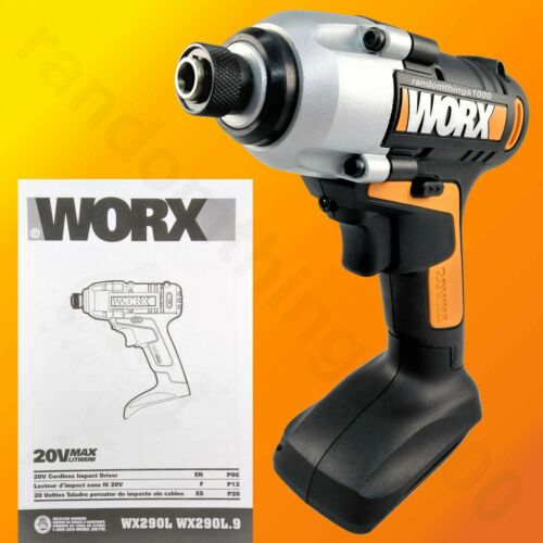 "WORX WX290L 20V MaxLithium Cordless 1/4"" Impact Driver, TOOL ONLY with manual"