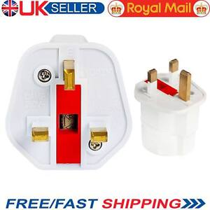 New European 2 Pin to UK 3 Pin Plug Adaptor Euro EU Schuko Travel Mains Adapter