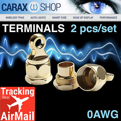 Ring Terminals 0 Awg 516 Wiring Battery Starter Cable Eyelet Screw-in Type Set
