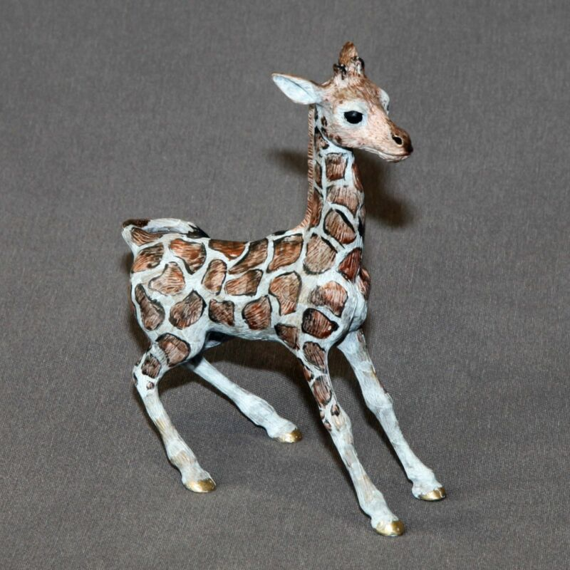 Detailed Giraffe Bronze Art Signed Figurine Sculpture Statue Signed and Numbered