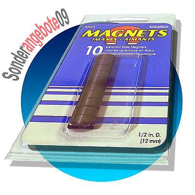 *10er Pack * 10 Magnete rund 12x5mm Magnet Set Power 1,2cm Rundmagnete Magneten