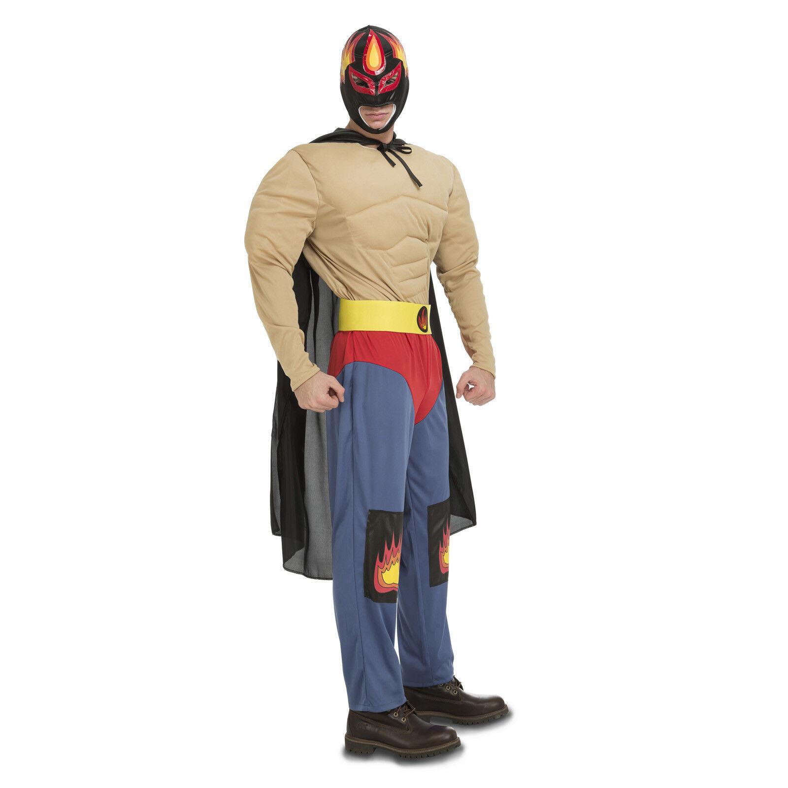Herren Mexikanischer Wrestler Kostüm Wrestling Kämpfer Kostüm Stag Outfit