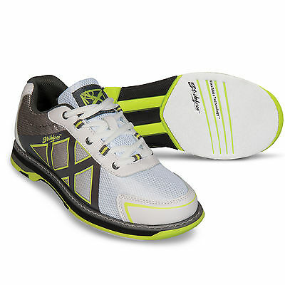 (Strikeforce Kross Bowling Shoes White Grey Yellow)