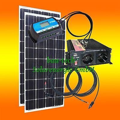 Kompakt 260Watt Inselanlage Solarmodul, Spannungswandler + Zubehör Solaranlage - Wandler Zubehör