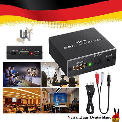 4Kx2K HDMI auf HDMI Audio Extractor Splitter HDMI 1.4 3.5mm Audio Output HDTV DE ()