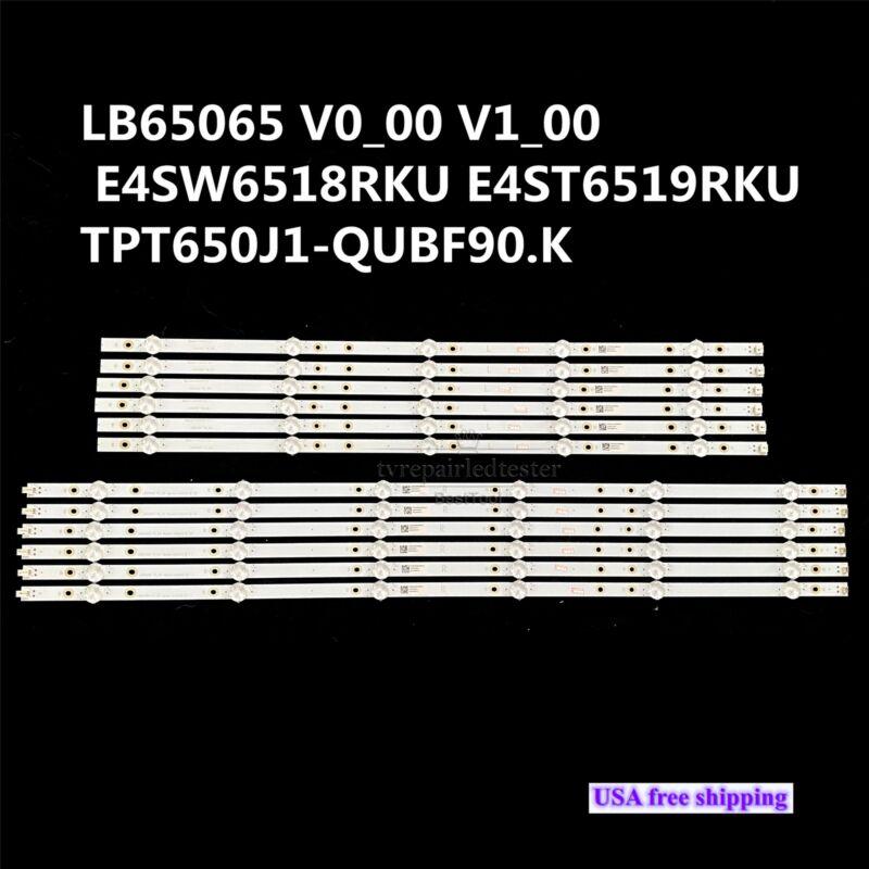 LED Backlight Strips for LB65065 E4SW6518RKU E4ST6519RKU TPT650J1-QUBF90.K
