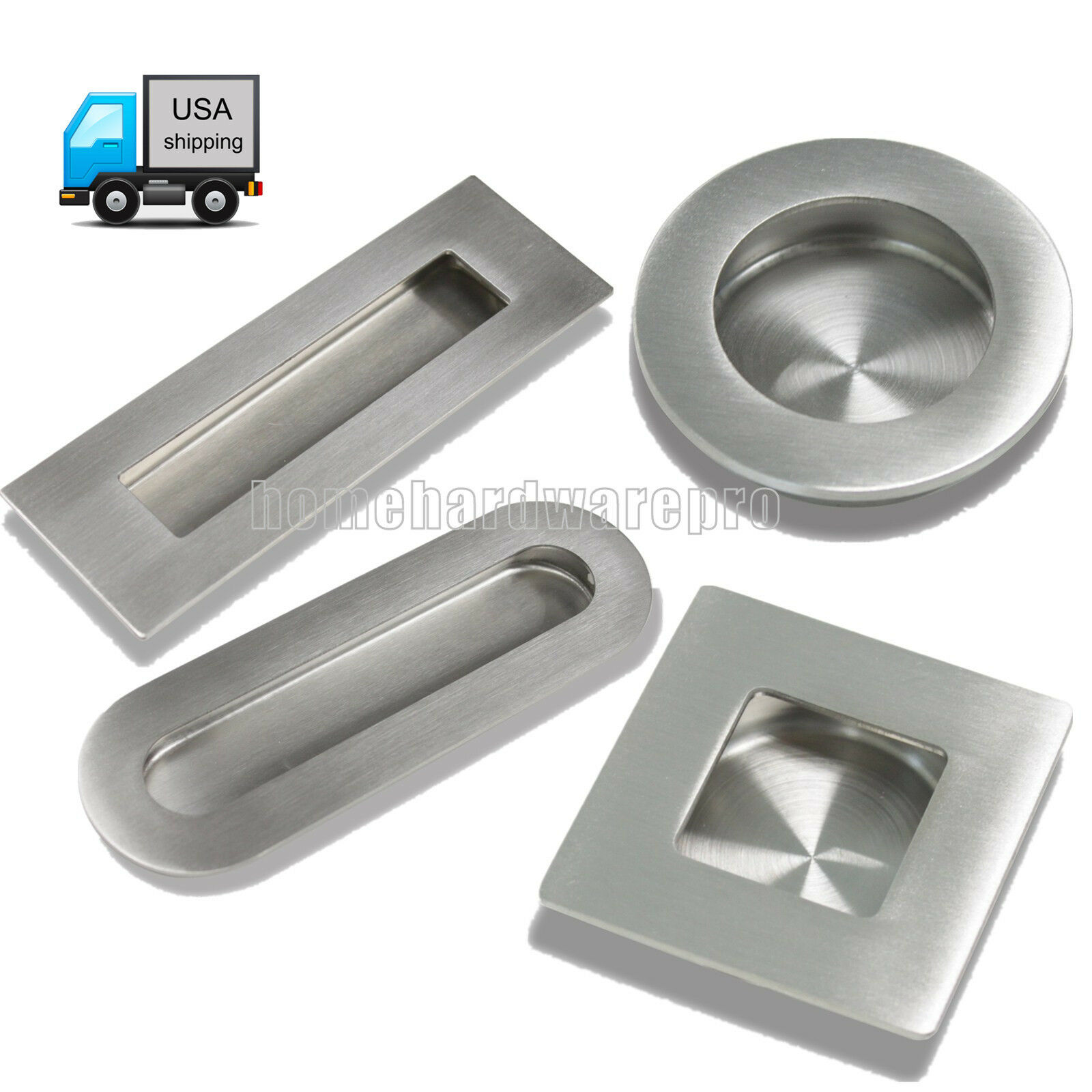 Closet 2 Packs Finger Pulls,Abuff Sliding Door Flush Pull Recessed Flush Handles with Hidden Concealed Screws for Cabinets Drawers 5.59x1.69x0.62