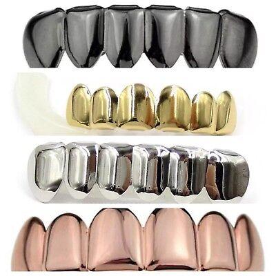 HIP HOP Teeth Grillz Top& Bottom Set silicone Vampire Gold/Silver/Rose/Black Black Set Grillz