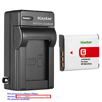 Cyber Shot Camera Camcorders (Kastar Battery Wall Charger for Sony NP-BG1 NPFG1 Sony Cyber-shot DSC-H70 Camera )