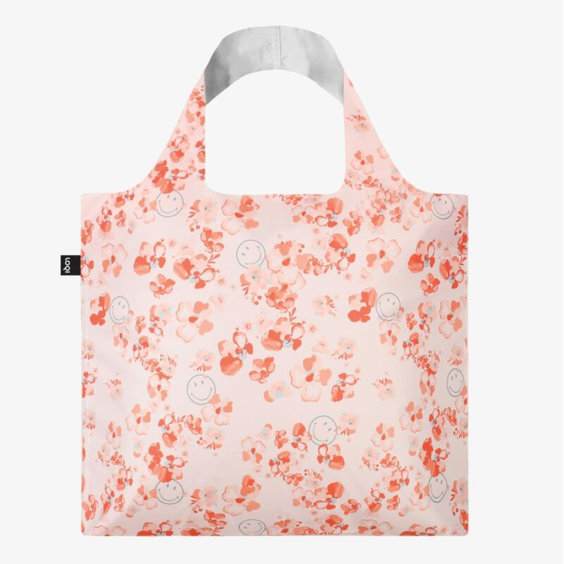 LOQI Smiley Blossom Recycled Bag