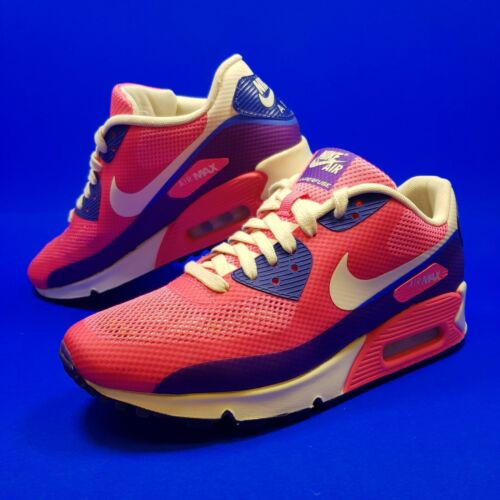 Nike Air Max 90 Hyperfuse Wmns Trainers UK 7 Pink Flash PRM Run Sneakers US 9.5