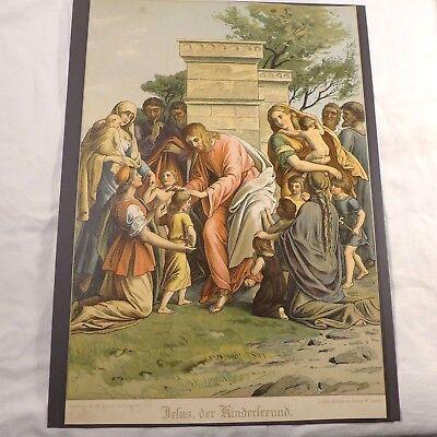 Jesusgeschichte ( Kinderfreund  ) großer Farbdruck um 1900 (nach Carolsfeld)