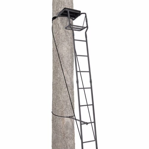 Realtree by Primal Vantage 15 Foot Ladderstand Treestand with Grip Jaw System