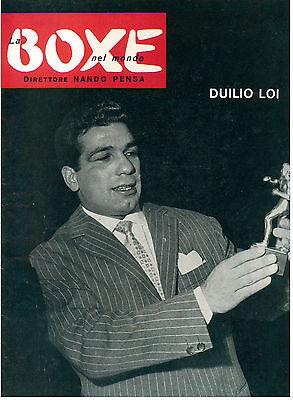 LA BOXE NEL MONDO N. 3 1958 PUGILATO DUILIO LOI
