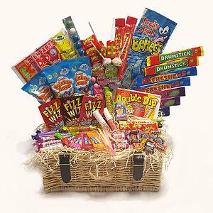 Luxury Retro Sweet Hamper Wicker Basket Gift Box Birthday Valentine's Present