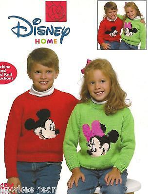 Disney mickey minnie knit sweaters patterns kids adults