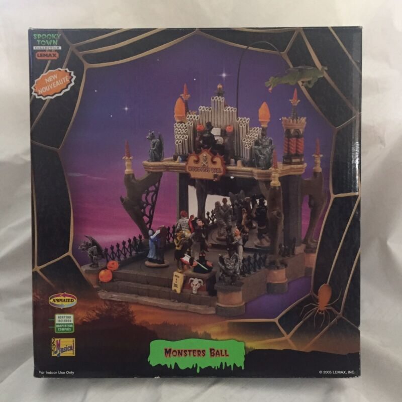 Lemax Spooky Town Monsters Ball  #54302 Lighted Animated 2005 Halloween Decor