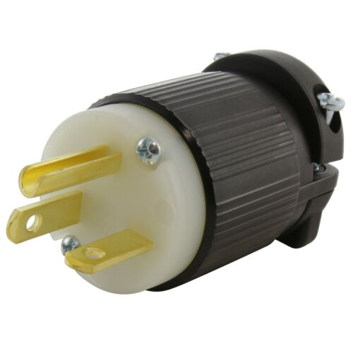 NEMA 6-20P 20 Amp  Straight Blade Plug Assembly by AC WORKS®