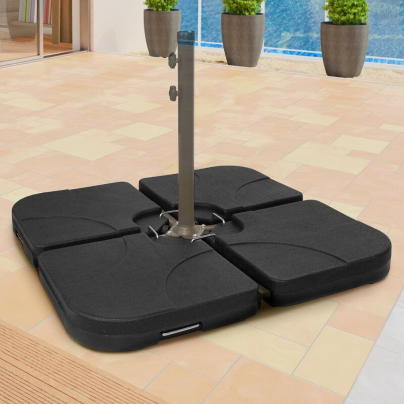 Sonnenschirmständer Schirmgewicht befüllbar 130 kg Ampelschirm Schirmständer