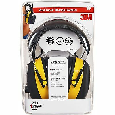 3m Earmuf Safety Headset Wradio Noise Reductn Lcd Bkyw 9054100000v