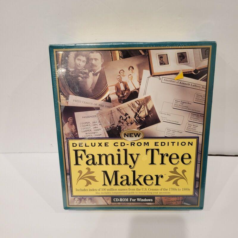 Family Tree Maker Family Genealogy Deluxe CD- ROM for windows NEW