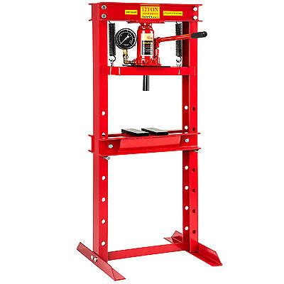 Prensa hidráulica de taller 12 toneladas fuerza de presión mandril garage marco