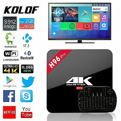 H96 PRO Android 6.0 S912 2G / 16G TV BOX WIFI 4k Media Player + i8 Keyboard