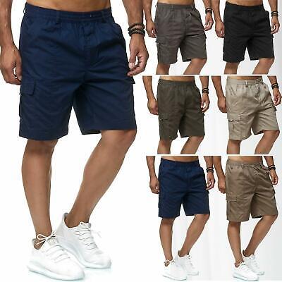 Mens Cargo Shorts Lightweight Combat Elasticated Waist Pants Combt Outdoor