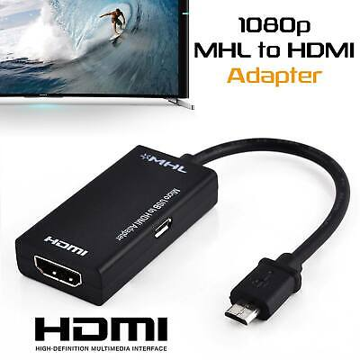 MHL Micro USB Male to HDMI Female Adapter Cable for Android Cell Phone Tablet