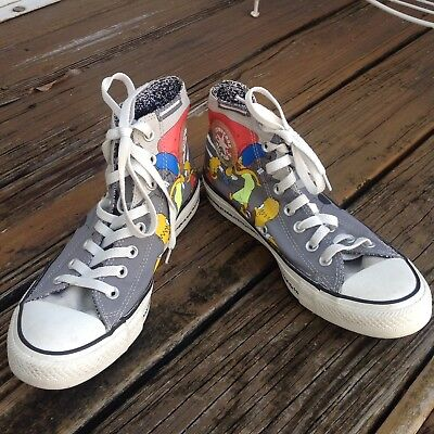 Converse All Star Simpsons Cartoon High Tops M 7 W 9 UK 7 EUR 40 Sneakers Shoes](Cartoon Converse Shoes)