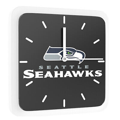 New 3 in 1 NFL Seattle Seahawks Home Office Decor Wall Desk Magnet Clock 6