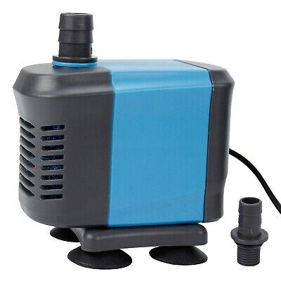 Aquarium Fountain Pond Pump - 400 GPH Submersible Water Pond Pump Aquarium Tank Powerhead Fountain Hydroponic