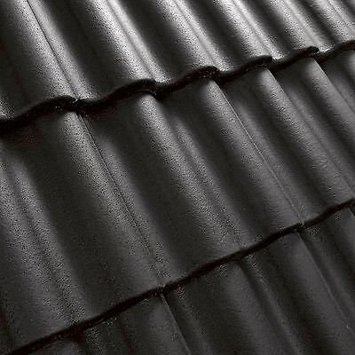 Muster Dachziegel schwarz Dachsteine Beton Ziegel Dachpfannen  PSO Dach Pfanne