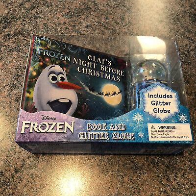 Disney Frozen Olaf's Night Before Christmas Book and Glitter Snow Globe Gift Set