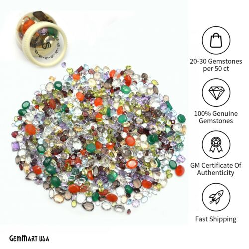AAA Mixed Gems Semi Precious Loose Natural Gemstones Lots Faceted Cut 0.50-5 ct