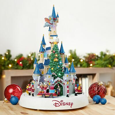 Disney Animated Castle with Lights and Music Christmas Holiday Mickey Pooh Donal