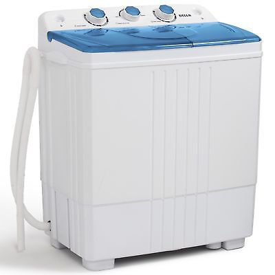 11lbs Transportable Washing Machine Mini Compact Twin Tub Laundry Washer Spin Dryer