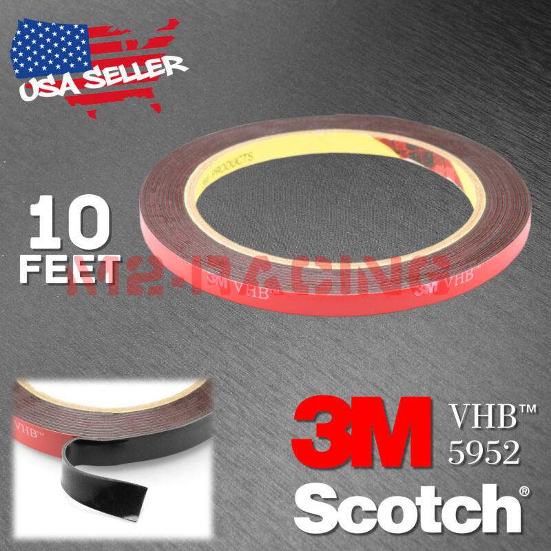 Genuine 3m Vhb #5952 Double-sided Mounting Foam Tape Automotive Car 6mmx10ft