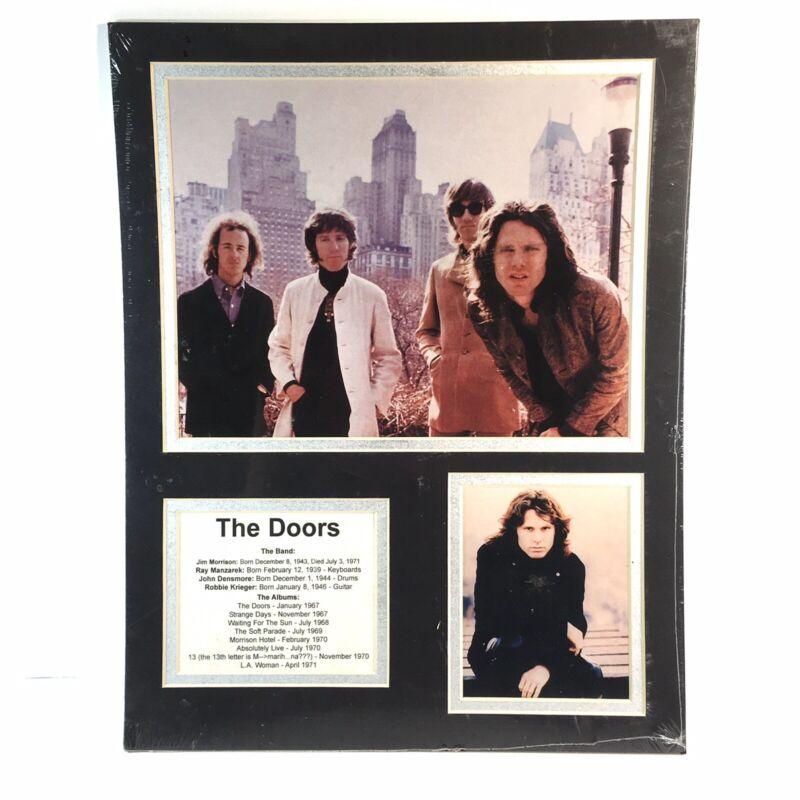 JIM MORRISON THE DOORS PHOTO PRINT 11 X 14 BAND MEMBERS ALBUM DATES SEALED