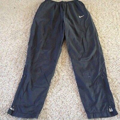 Women's Nike athletic nylon pants size Medium 8-10 black elastic waist