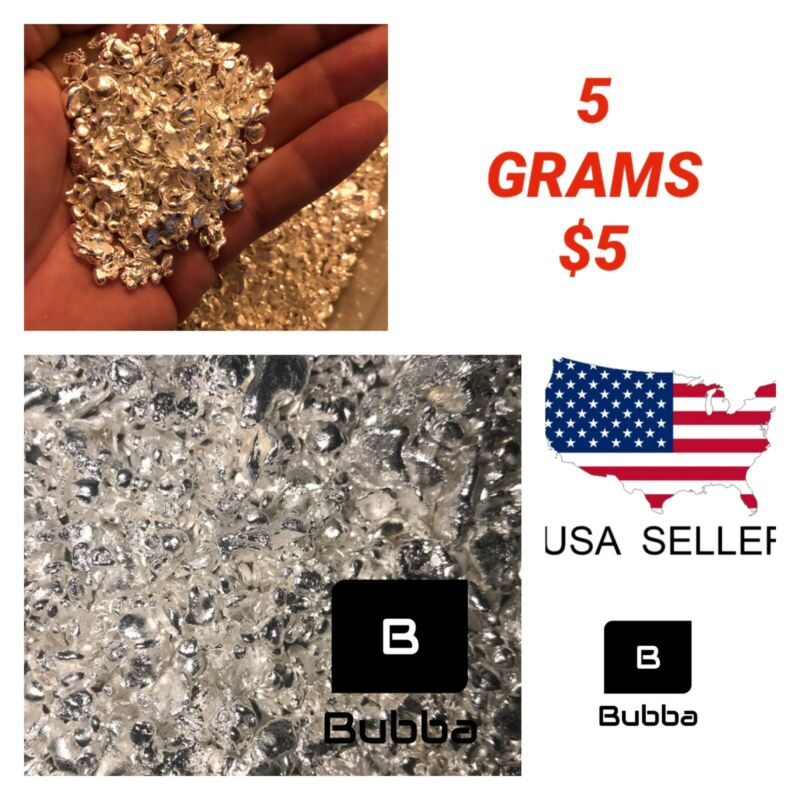 .999 Fine Silver Bullion Silver Shot & Nuggets  - 5 Grams For $5 - ITS BACK!!!!