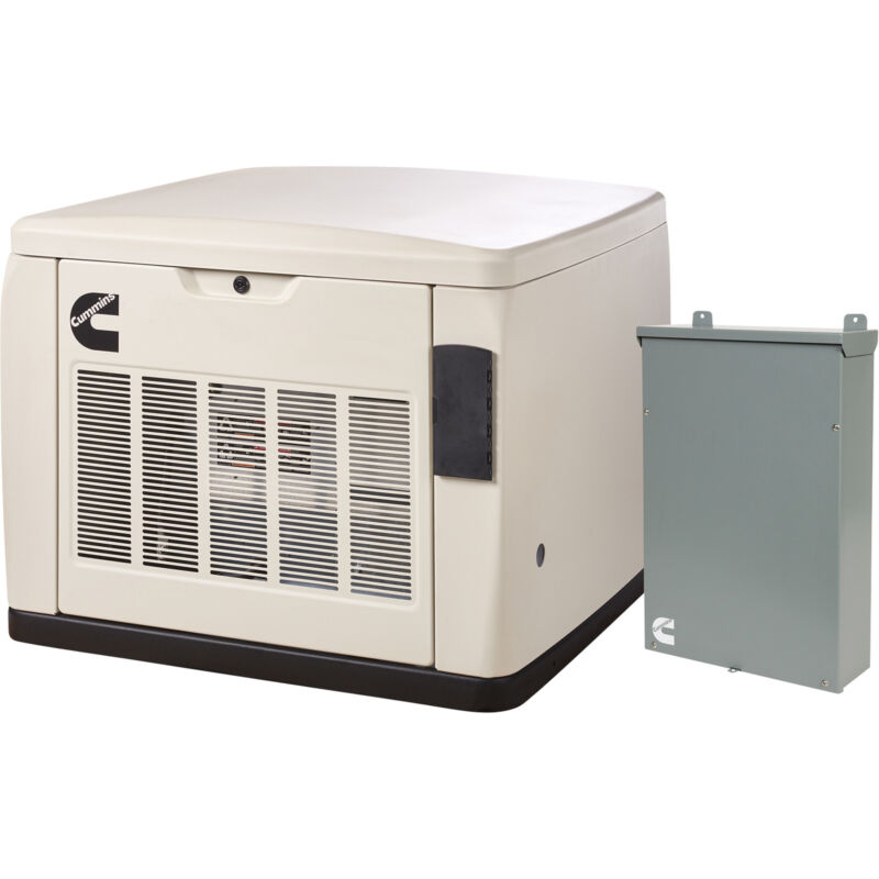Cummins QuietConnect Home Standby Generator w/Transfer Switch 20 kW LP/18 kW NG
