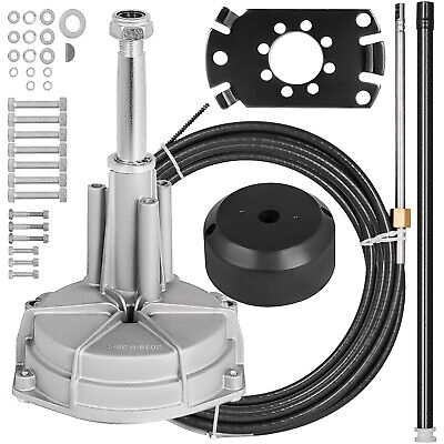 SS13715 Rotary 15ft Outboard Steering Kit Safe-T Cable Fishing Boats Hardware